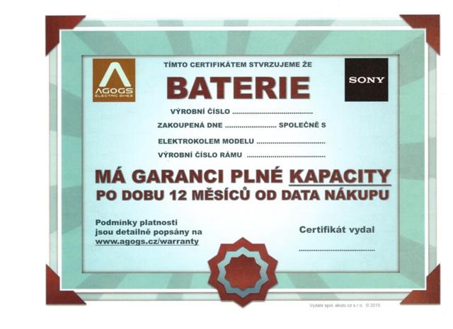 Baterie Agogs XL 36V/14,5Ah